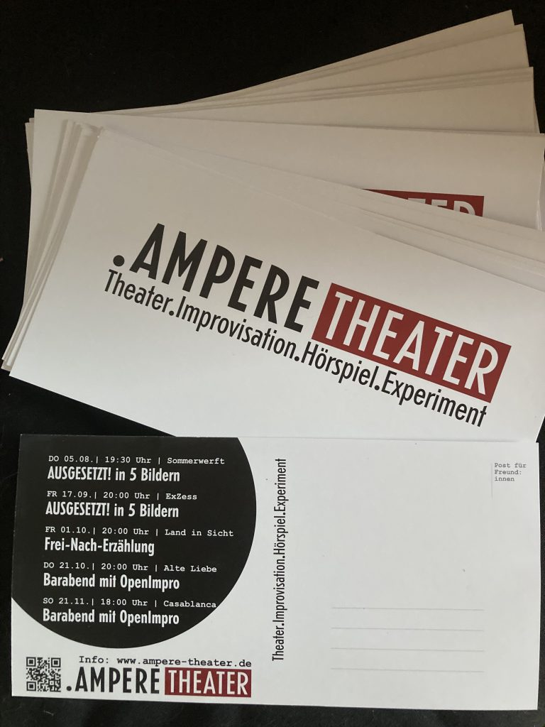Terminflyer Ampere Theater Herbst 2021